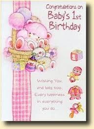 ideas for baby s birthday card invitation design ideas 1st birthday card for baby girl
