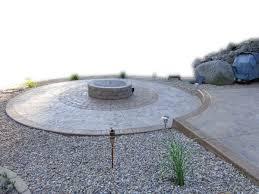 Circular Patios by Custom Back Yard Stamping Concrete Patios