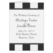 Wedding Ceremony Program Order Black White Order Of Service Gifts T Shirts Art Posters