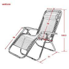 sedia gravity leisure zone皰 zero gravity sedia pieghevole sedia reclinabile