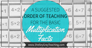 how to teach multiplication tables a suggested order for teaching the basic multiplication facts