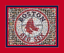 Boston Red Sox Home Decor by Boston Red Sox Mosaic Print Art Using 200 Pictures Of Past And