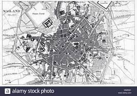 Map Of Florence Italy Engraved Illustrations Of The Map Of Milan Italy From