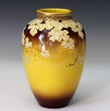 Antique Ceramic Vases Antique Japanese Kyoto Satsuma Relief Enamels Studio Art Pottery