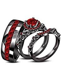 Black Wedding Rings For Her by Amazon Com 50 To 100 Bridal Sets Wedding U0026 Engagement
