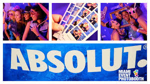photo booth rental miami miami event photo booth rental absolut vodka