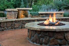 Backyard Patios With Fire Pits Gas Fire Pit Log Landscaping Fire Pits Design Patios Water