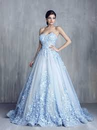 blue wedding dresses 35 trendy and blue wedding gowns weddingomania