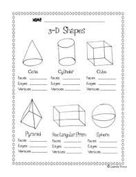 3 d shapes worksheet free worksheets library download and print