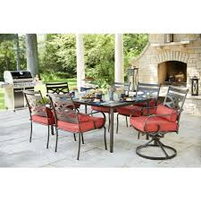 Patio Dining Set 7 Piece - hampton bay middletown 7 piece patio dining set with chili