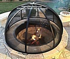 Firepit Screens Stainless Steel Mild Steel Pit Spark Screen Pits