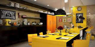 yellow accent kitchens that really shine kitchens a single stripe