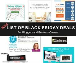 best websites for black friday deals best black friday deals for bloggers and small biz owners 2016