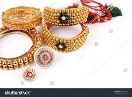 indian traditional gold jewellery bangles forehead stock photo