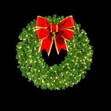 large pre lit artificial wreaths for commercial use