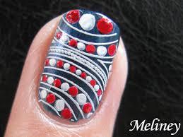 retro sailor nautical nail art easy dot pattern design for short