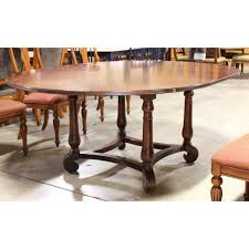 ethan allen dining table with 6 chairs upscale consignment