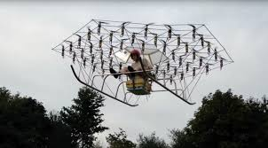 Helicopter Chair British Man Builds Helicopter From 54 Drones U0026 Garden Chair Video
