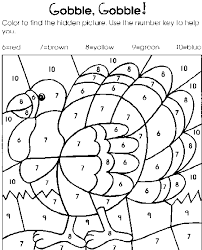 color by number thanksgiving coloring pages getcoloringpages