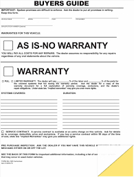 free warranty template sample auto bill of sale form forms and