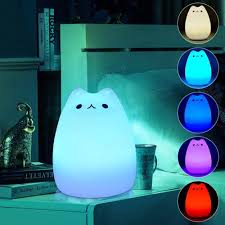 Halloween Bubble Night Lights Rechargeable Color Changeable Silicone Led Sensitive Tap Control