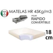 matelas pour canap rapido matelas épaisseur 18 cm pour canapé convertible ra 3663556135496