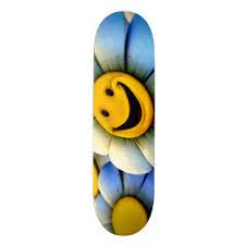 Smiley Flowers - smiley skateboard decks zazzle