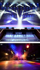 floor mounted stage lighting behind the scenes optics and mechanics in stage lighting and