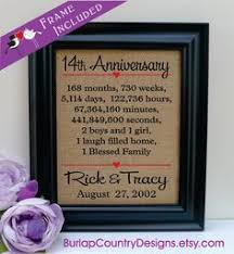 wedding anniversary gifts for him 14th anniversary gift 14 years together years months weeks