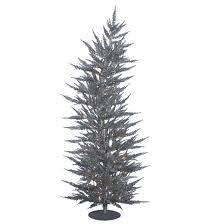 5ft pre lit artificial tree silver laser with 100 warm
