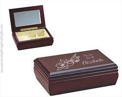 engraved box custom engraved wooden jewelry box elise