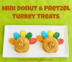 thanksgiving treats thanksgiving mini donut and pretzel turkey treats kitchen fun