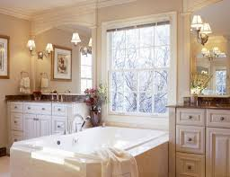 vintage bathrooms photos corner stone tub near teak wood cabinetry