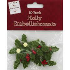 felt holly embellishments craft supplies brand new ebay