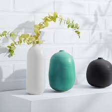 Vase Tall Judy Jackson Stoneware Vase Tall Oval And Round West Elm