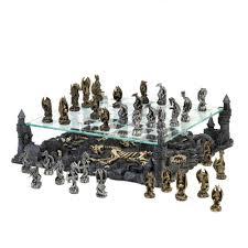 decorative chess set rustic chess set 14 5 pound large modern battle theme chess board set