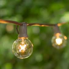 globe string lights brown wire 1 5 inch e12 bulbs 10 foot brown wire c7 strand clear white globe