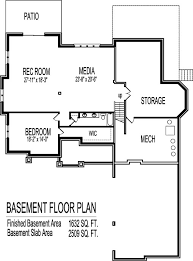 2 Bedroom Floor Plans With Basement 2 Story House Floor Plans 6 Bedroom Craftsman Home Design With
