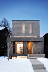 a frame style homes aluminium louvres screen facade of toronto home by paul raff