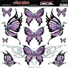 lethal threat decals large butterfly sheet 12x12 lt06042 misc