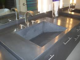 Cement Bathroom Sink - bathroom sink concrete vanity top bathroom vanity countertops