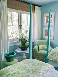 bedroom green and blue decorating via hgtv dream home bedroom