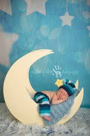 baby boy photo props adorable wood moon photo prop fits newborn by theittybittypropshop