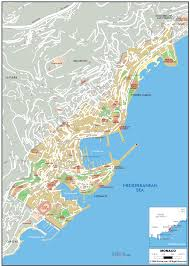 France Physical Map by Monaco Map
