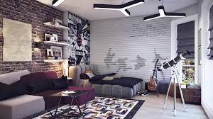 bedroom attractive wonderful purple sofa plus shelves idea
