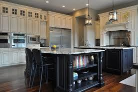 black kitchen island table lido isle traditional kitchen orange county by graystone inside