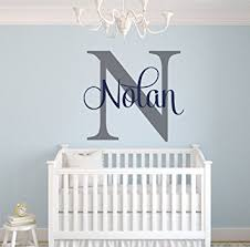 Wall Nursery Decals Custom Name Monogram Wall Decal Nursery Wall Decals