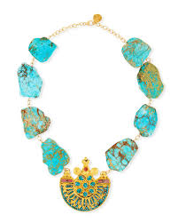 pendant necklace turquoise images Devon leigh turquoise slab pendant necklace neiman marcus jpg