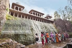 Nek Chand Rock Garden Enjoying In A Waterfall At Rock Garden By Nek Chand Saini