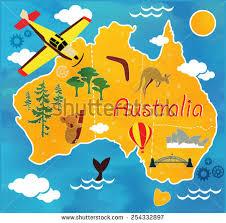 map of austrailia map australia stock vector 254332897